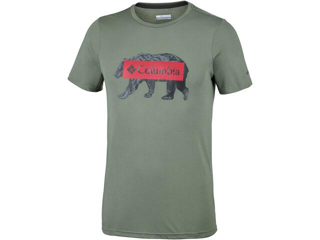 Columbia Box Logo Bear T-shirt Homme, cypress